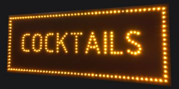 COCKTAILS LED SIGN 2